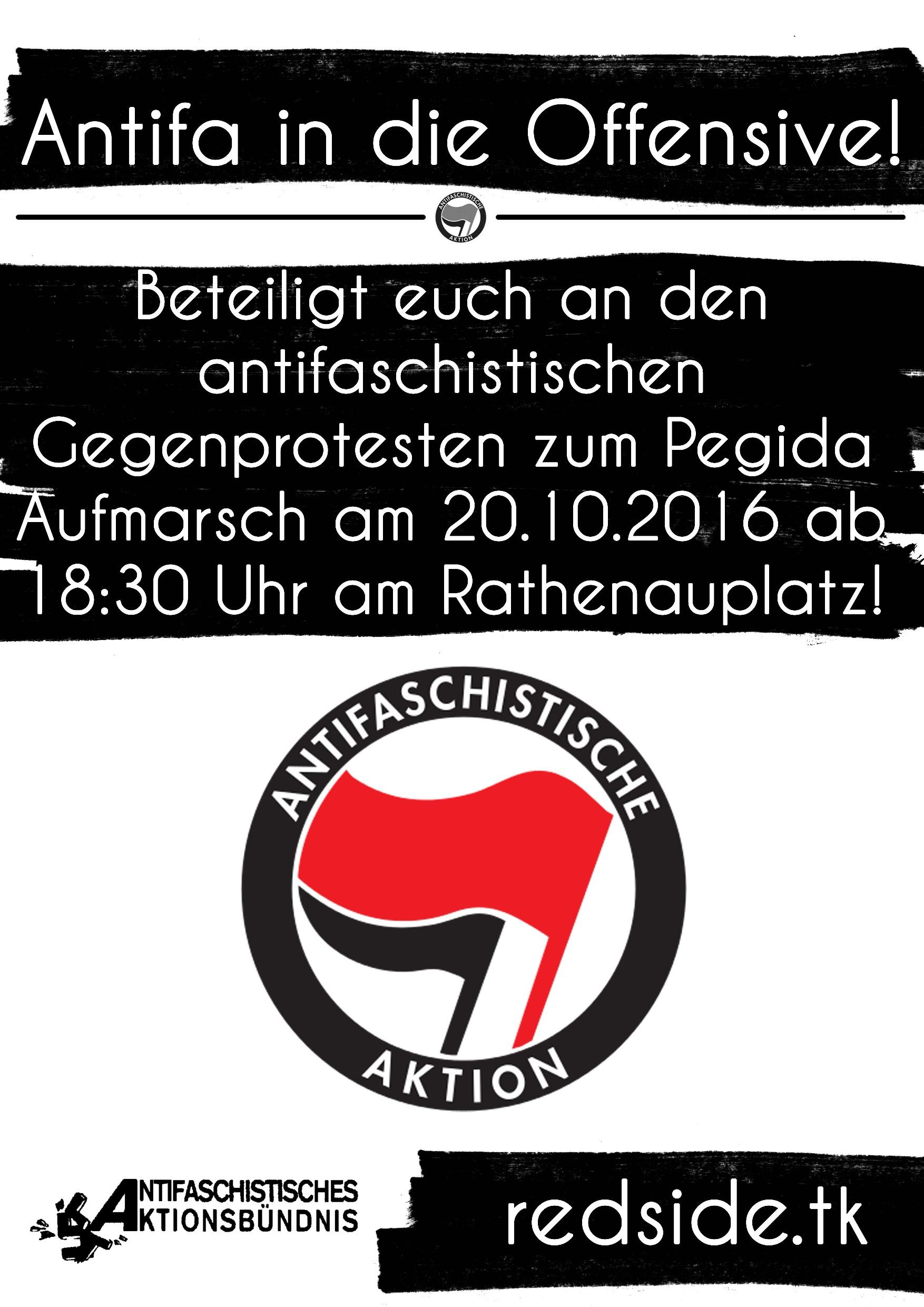 AAB Gegenprotest Pegida 20.10.2016 Nbg