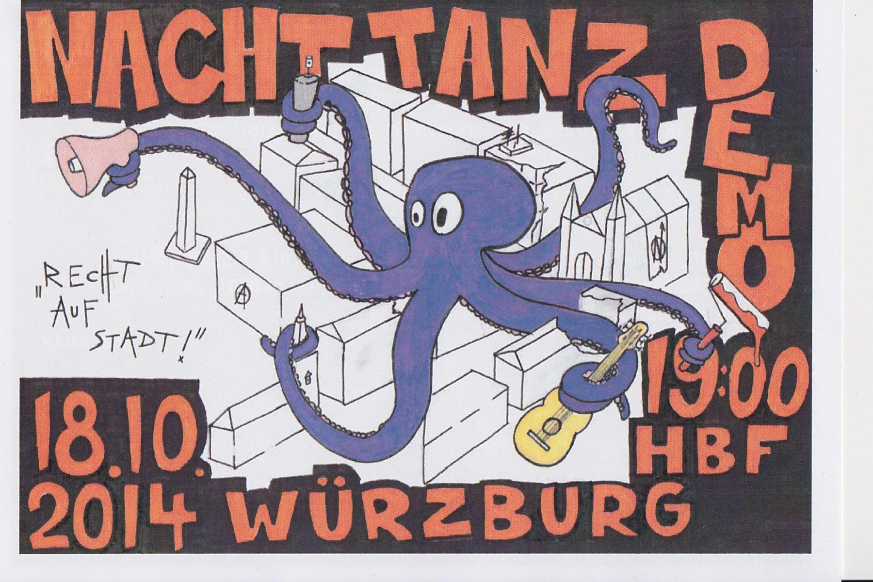 Nachttanzdemo Würzburg