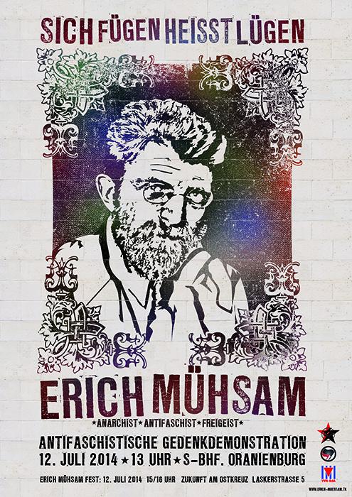 Erich Mühsam Gedenkdemo